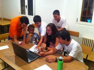 Los Mikeles, Pablo, Raquel, Pedro y Unai